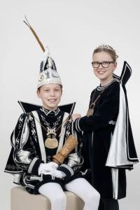 Jeugdprins Mika I en jeugdprinses Lara Bessemebenjers 2016